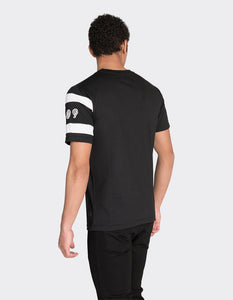 Black front stripe printed t-shirt