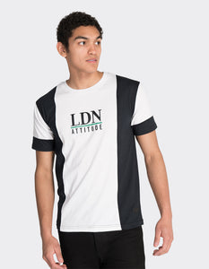 Navy 'LDN' vertical blocked t-shirt