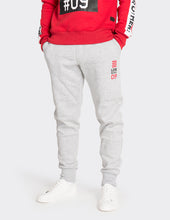 Load image into Gallery viewer, Grey marl side stripe joggers