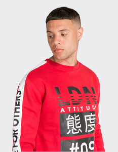Red 'Limits' printed Sweatshirt