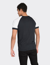 Load image into Gallery viewer, Black contrast sleeve t-shirt
