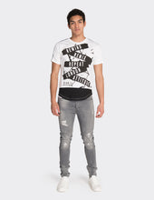 Load image into Gallery viewer, White tape print t-shirt