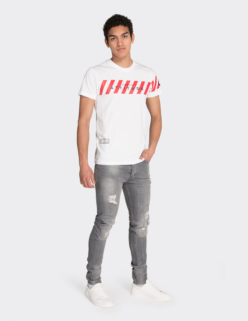 White crossing print t-shirt
