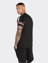 Load image into Gallery viewer, Black 'LDN' stripe short sleeve T-Shirt