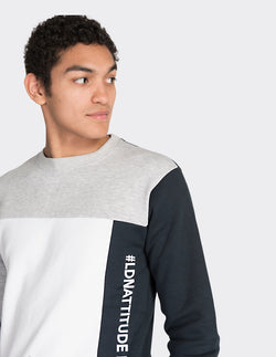 Grey colour blocked sweatshirt