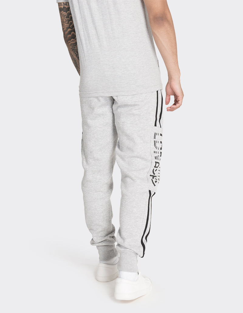 Grey marl striped joggers