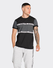 Load image into Gallery viewer, Black chevron printed t-shirt