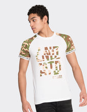 Load image into Gallery viewer, White camo print short sleeve T-Shirt