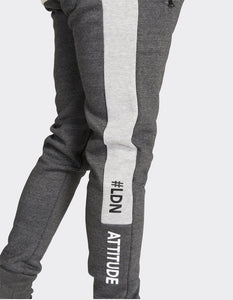 Charcoal side stripe joggers