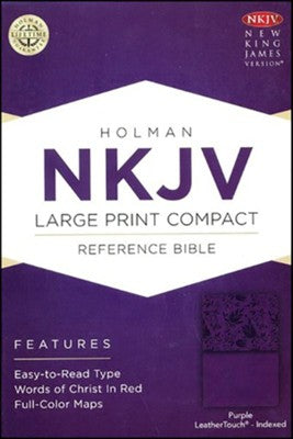 NKJV Compact Reference Bible, Large Print Purple (Imitation Leather)