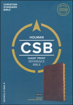 CSB Reference Bible Giant Print Indexed Black (Genuine Leather)