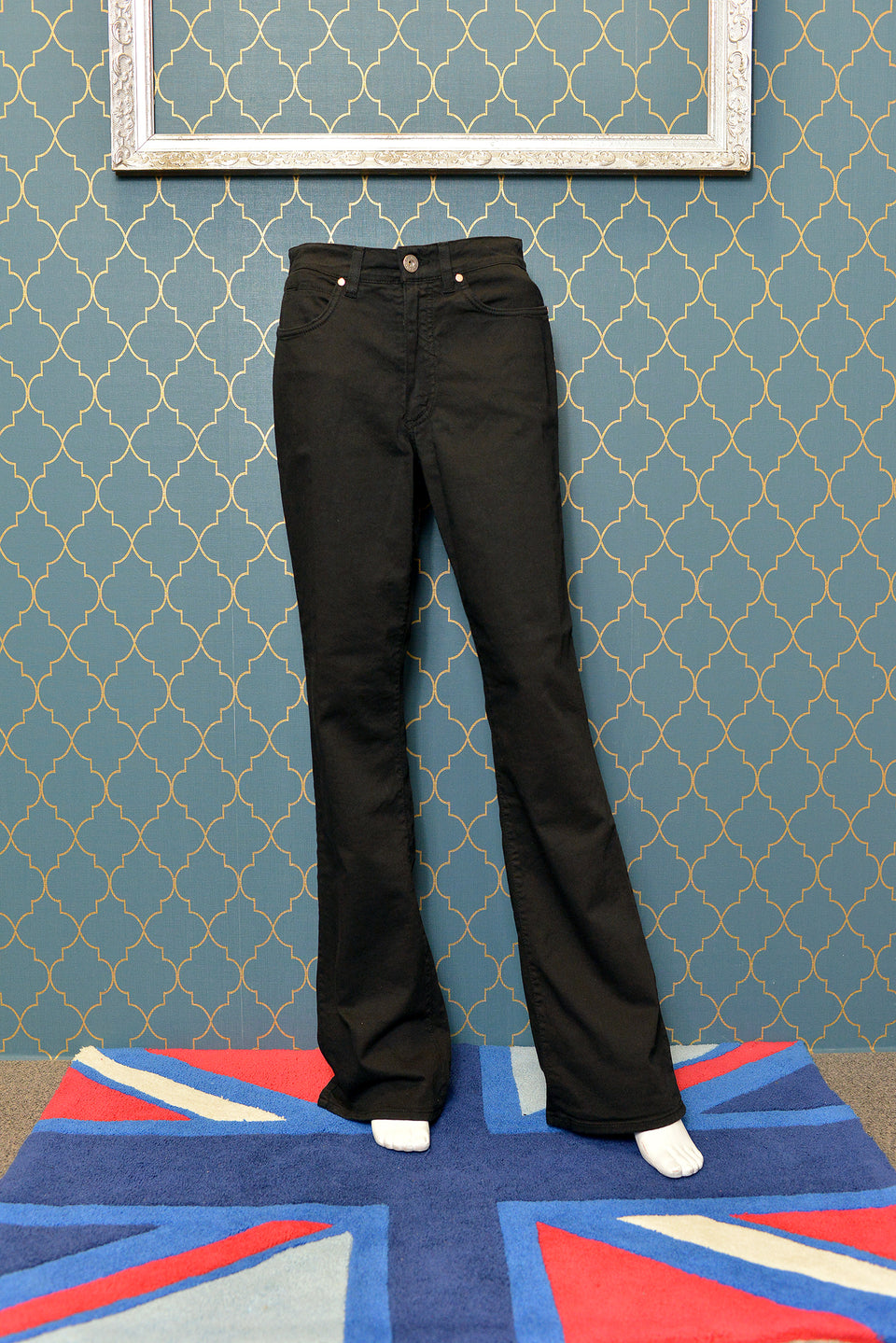 JQ Jonny-Q Women's Black Stretch Boot Cut Leg Jeans. Size 14 Long. NEW with tags.
