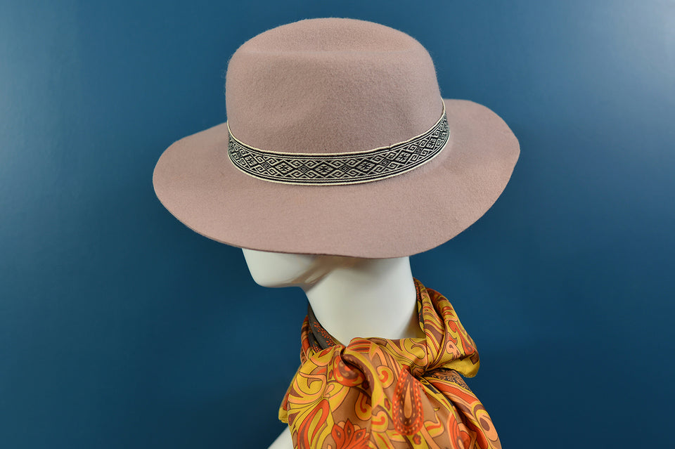 Accessorize Women's Fedora Style Mushroom Colour Wool Hat, 55cm. Pre-loved.
