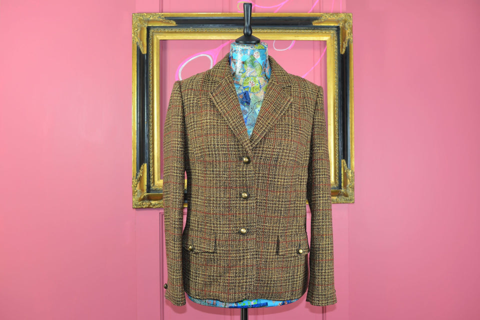BETTY BARCLAY Collection Women's Tweed Style Blazer, Size 16. Pre-loved.