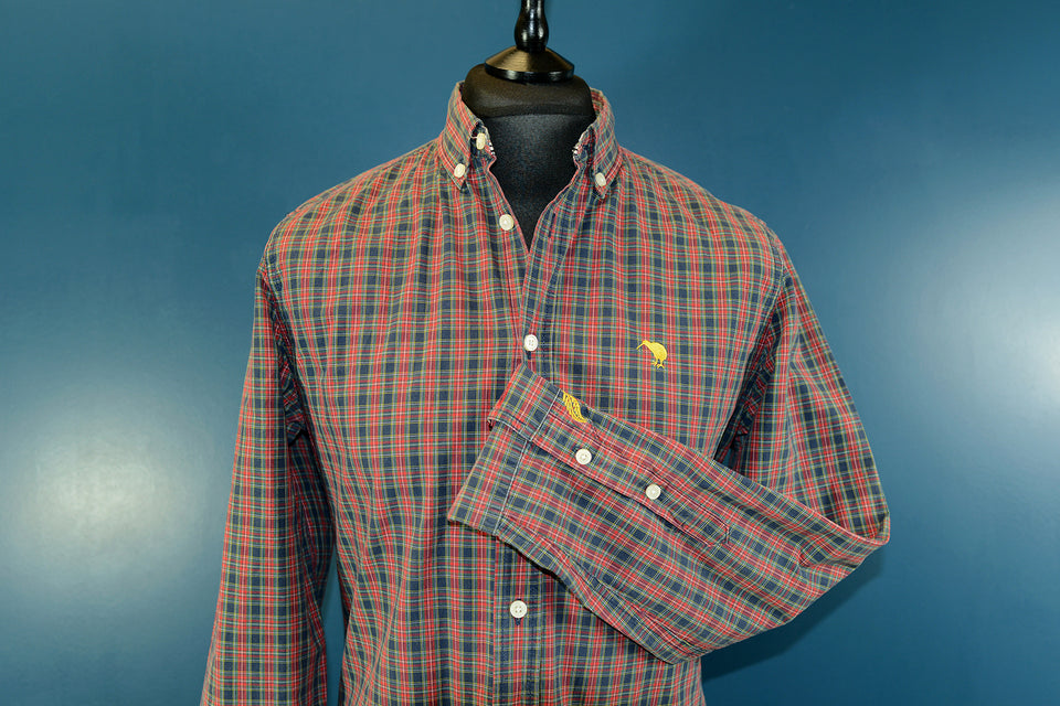 CANTERBURY New Zeland Men's Classic Check Shirt, Size M. Pre-loved.