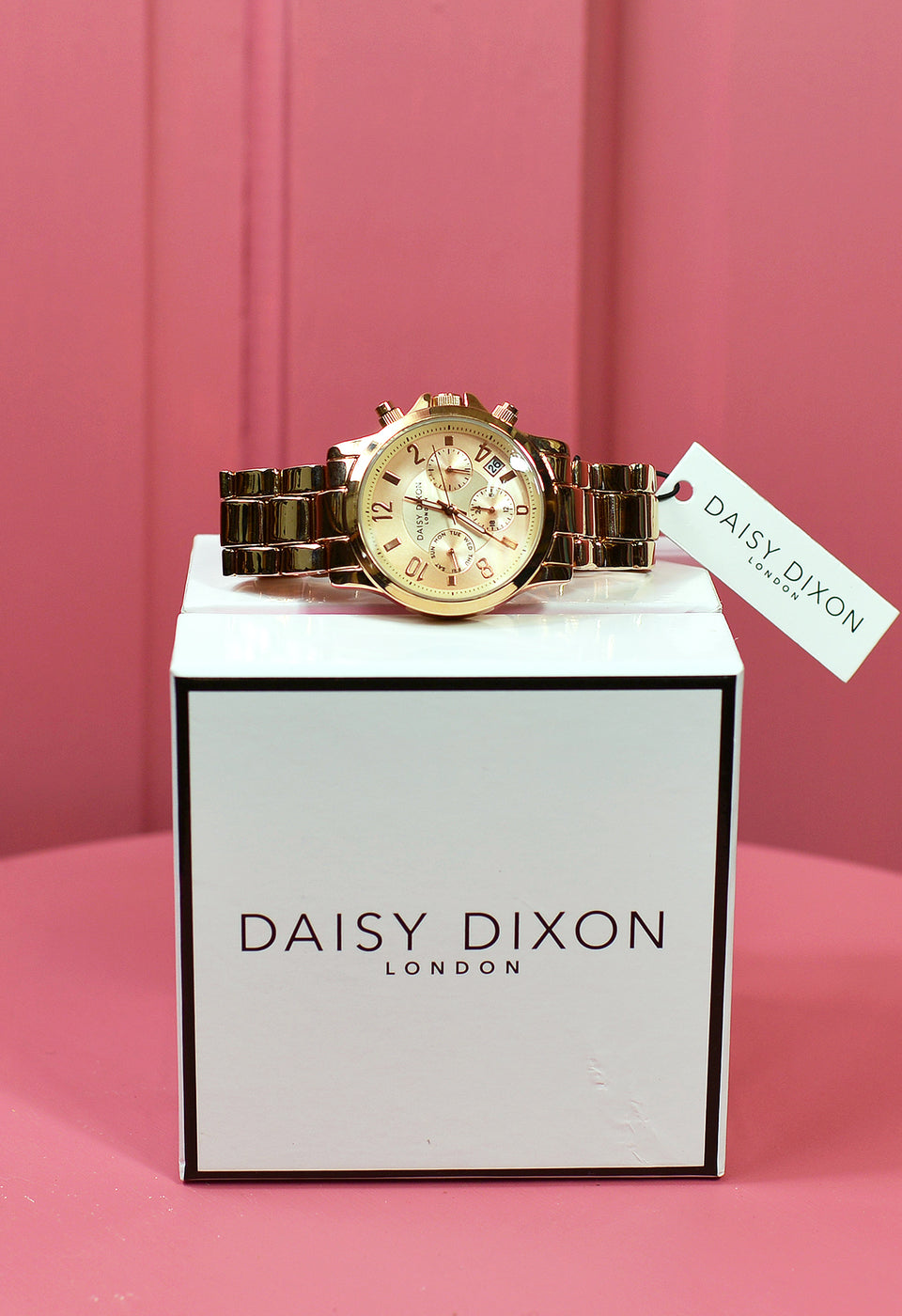DAISY DICKSON Women's Gold Bracelet, Multi Dial Quartz Watch. NEW with Box.