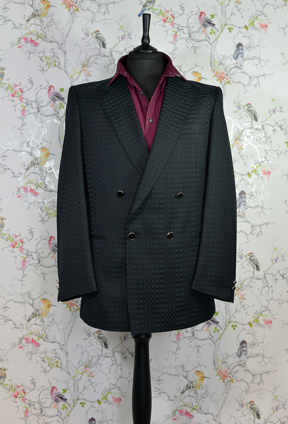 DESCH Men's Double Breasted 80s Retro Blazer, Size 50R. Vintage.