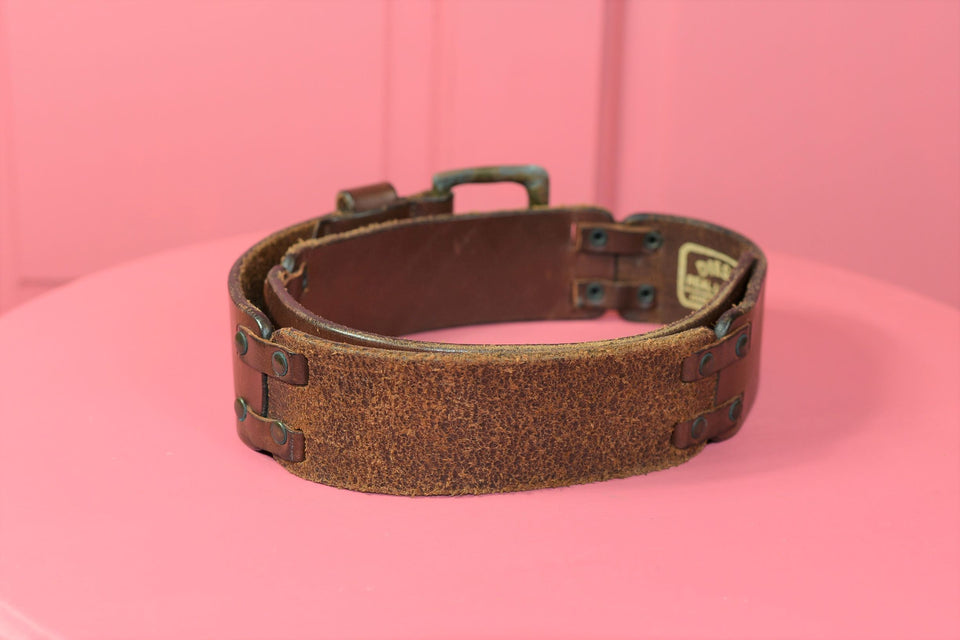 DIESEL Brown Leather Belt, Size 75-80 (S). Vintage.