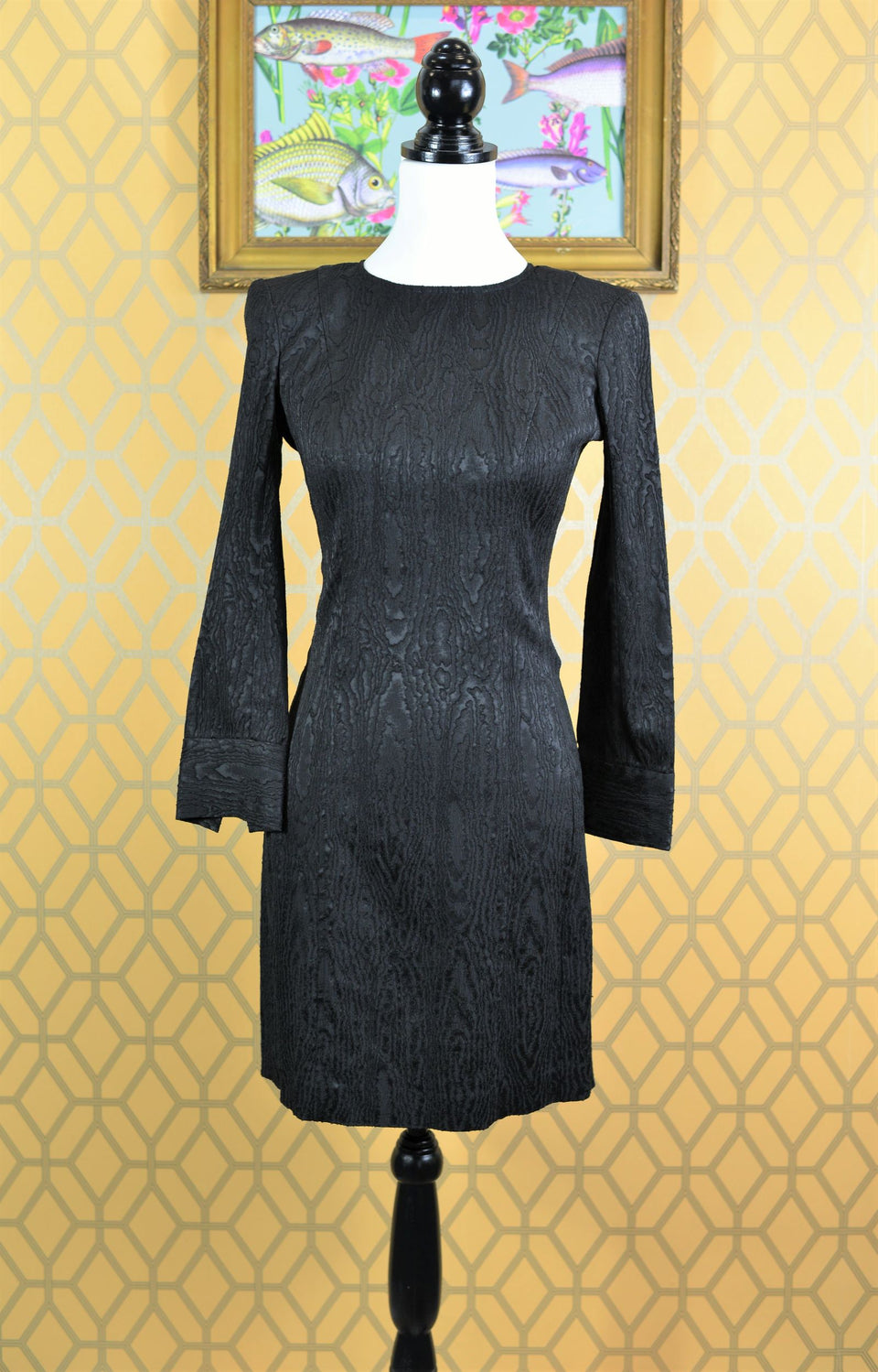 FRENCH CONNECTION Women's Little Black Dress with Long Sleeves, Size 8. Pre-Loved.