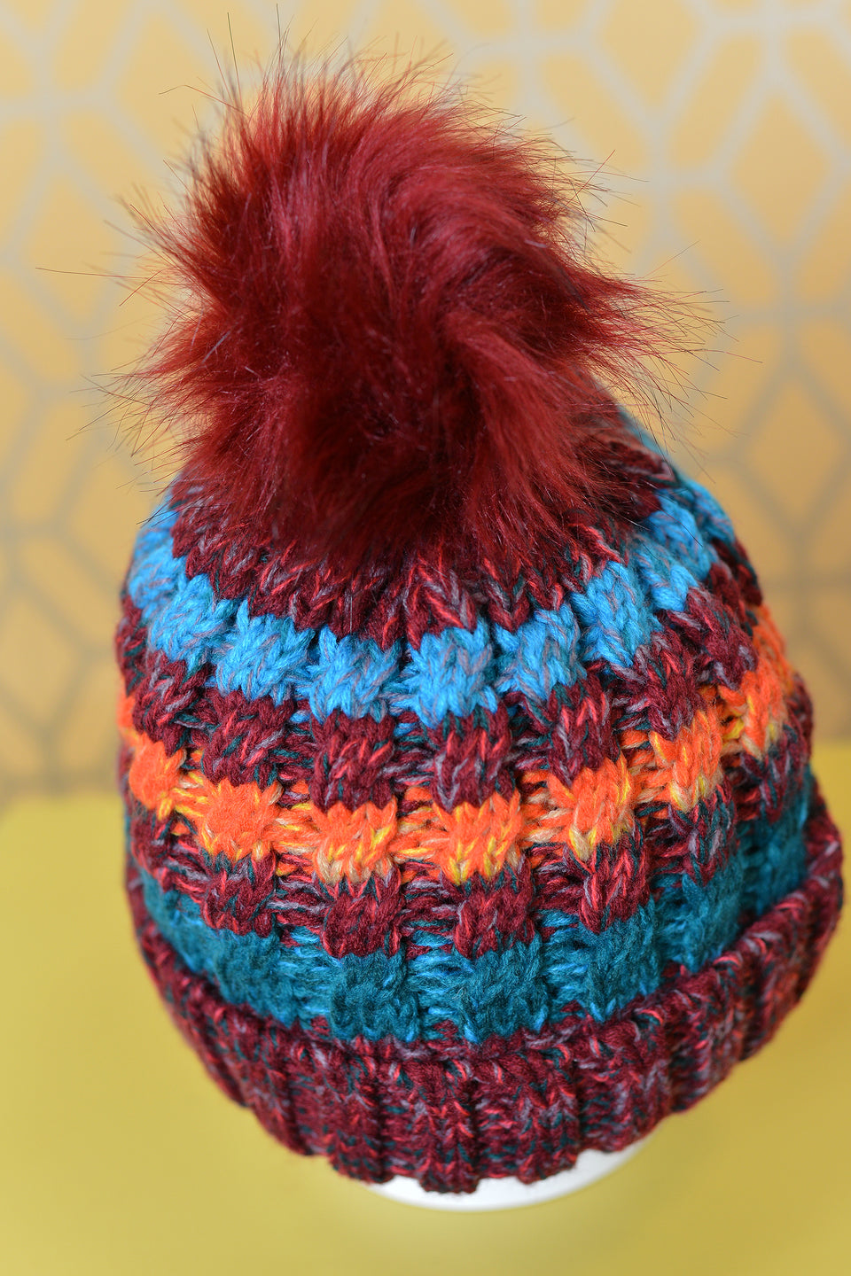 JANE ANNE DESIGNS Autumn Winter Claudia Hat with Pompom. Size 5. New.