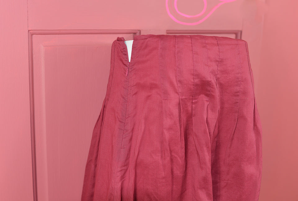 JIGSAW Raspberry Magenta Organza Skirt, Size 12. Pre-loved.