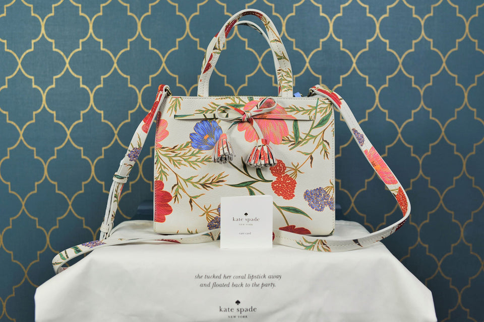 KATE SPADE Small Isobel Hayes Street Blossom Floral Print Handbag. New with tags.