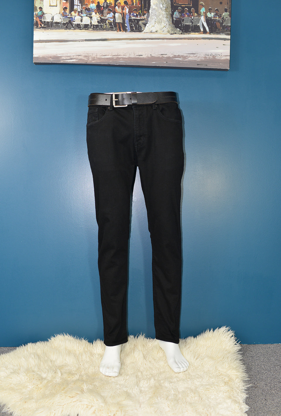 KINGS OF INDIGO 'Daniel' Organic Cotton Jeans in Stay Black, W33 L32. Pre-loved.