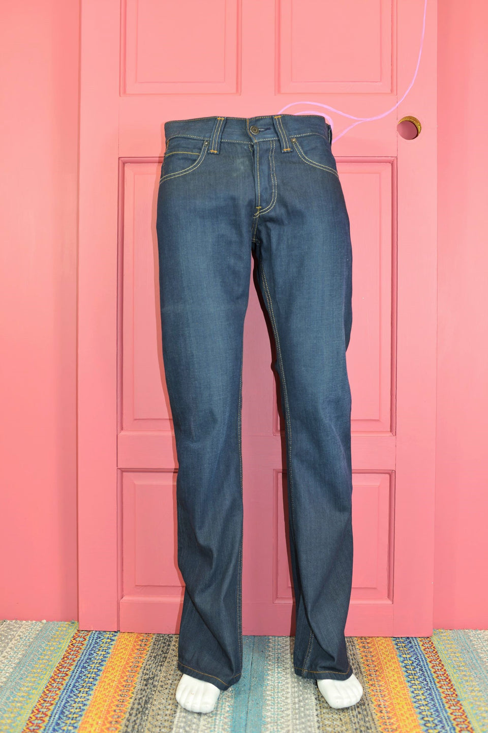 LEVI'S Men's 512 Dark Blue Denim Bootcut Jeans, W30 x L34. Pre-loved.