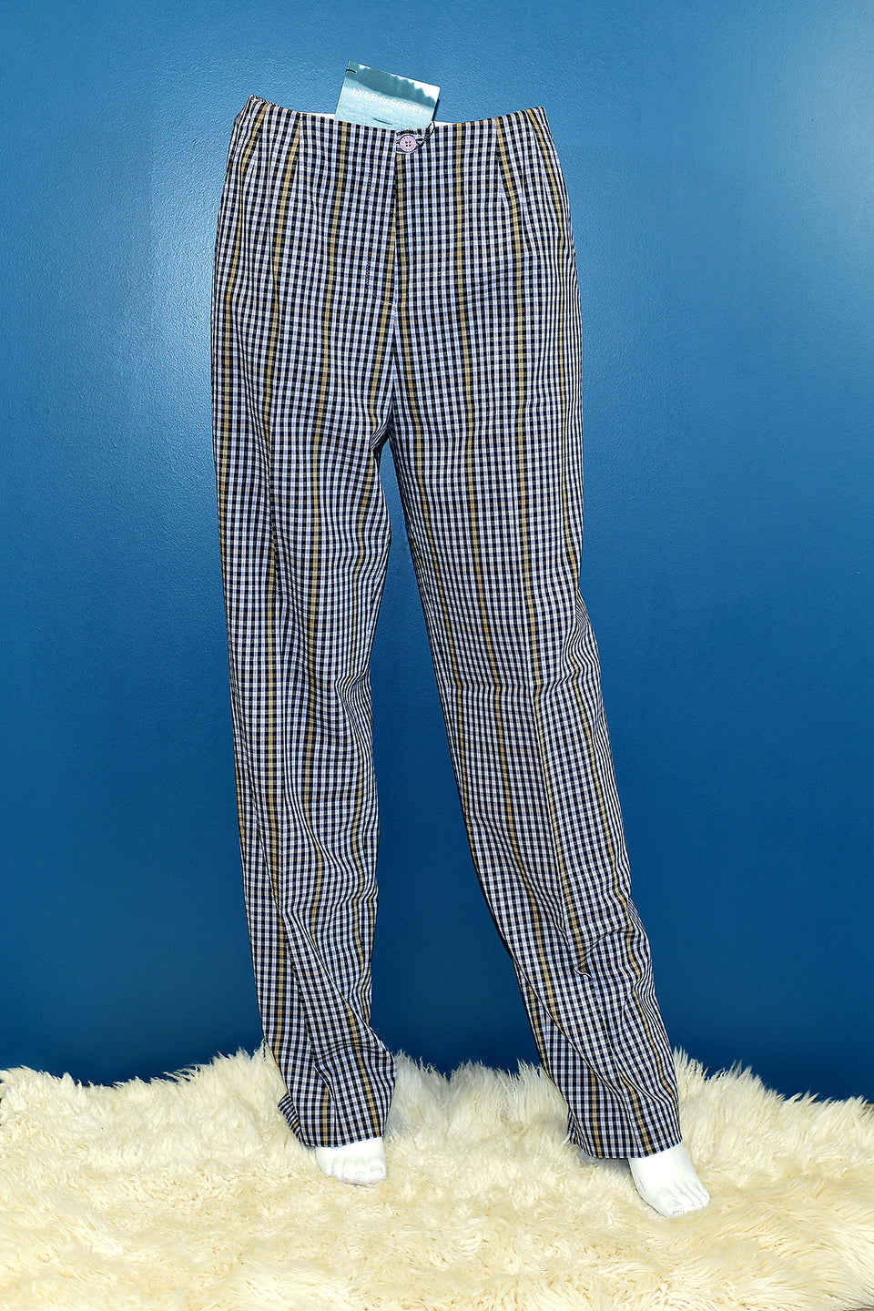 LYLE & SCOTT Women's Black and Lupin Check Golf Trousers, Size 12. New with tags.