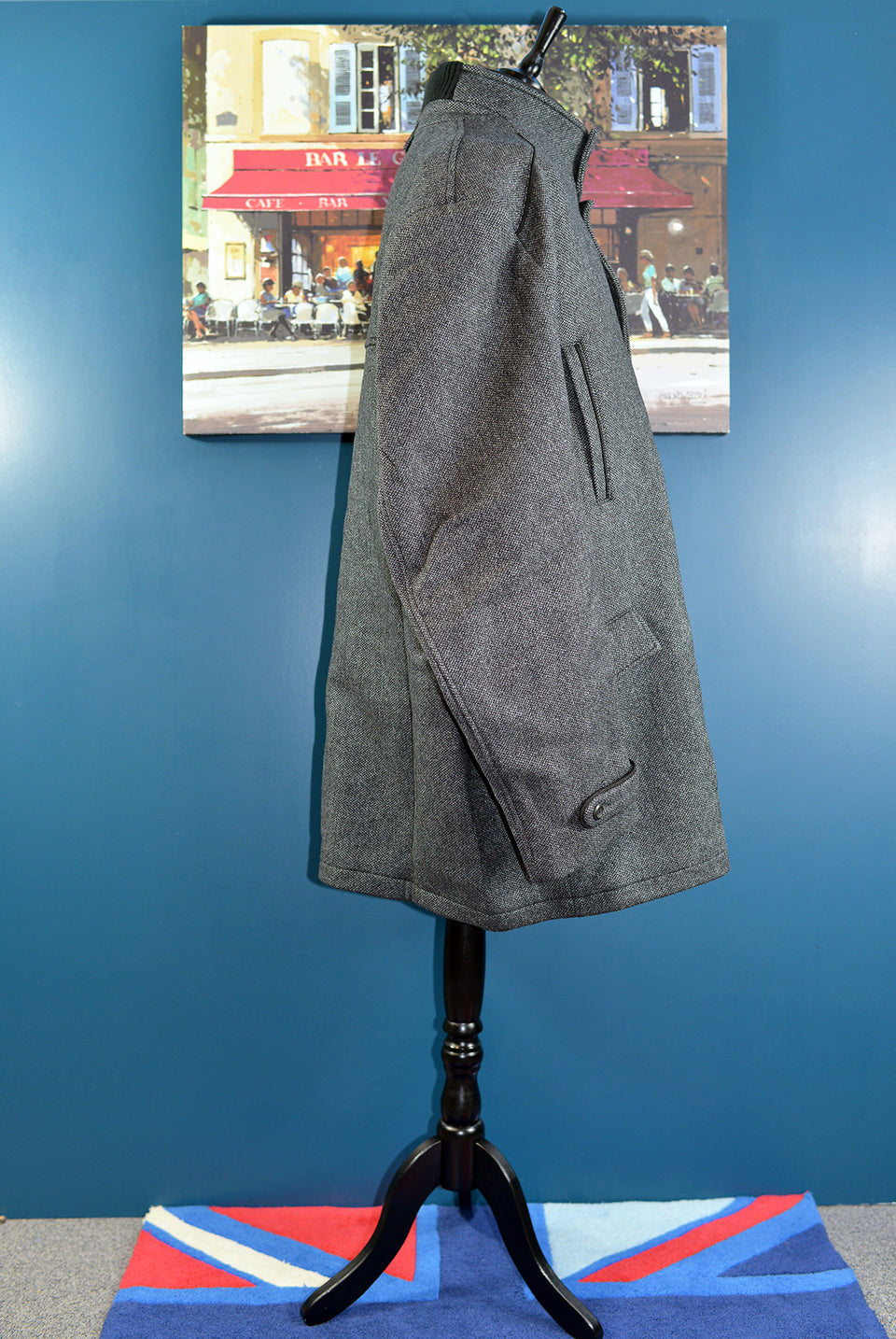 OXIDE Men's Wool Blend Grey Winter Jacket/Coat, Size 4T (XXXL). NEW with Tags.