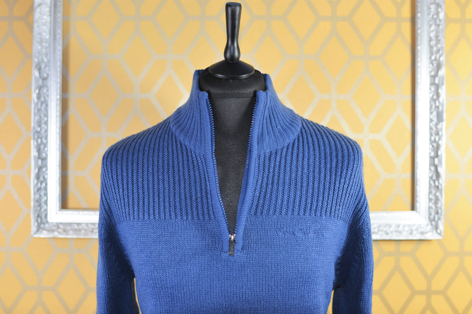 PIERRE CARDIN Men's Blue Knitted Jumper, Size M. New with tags.