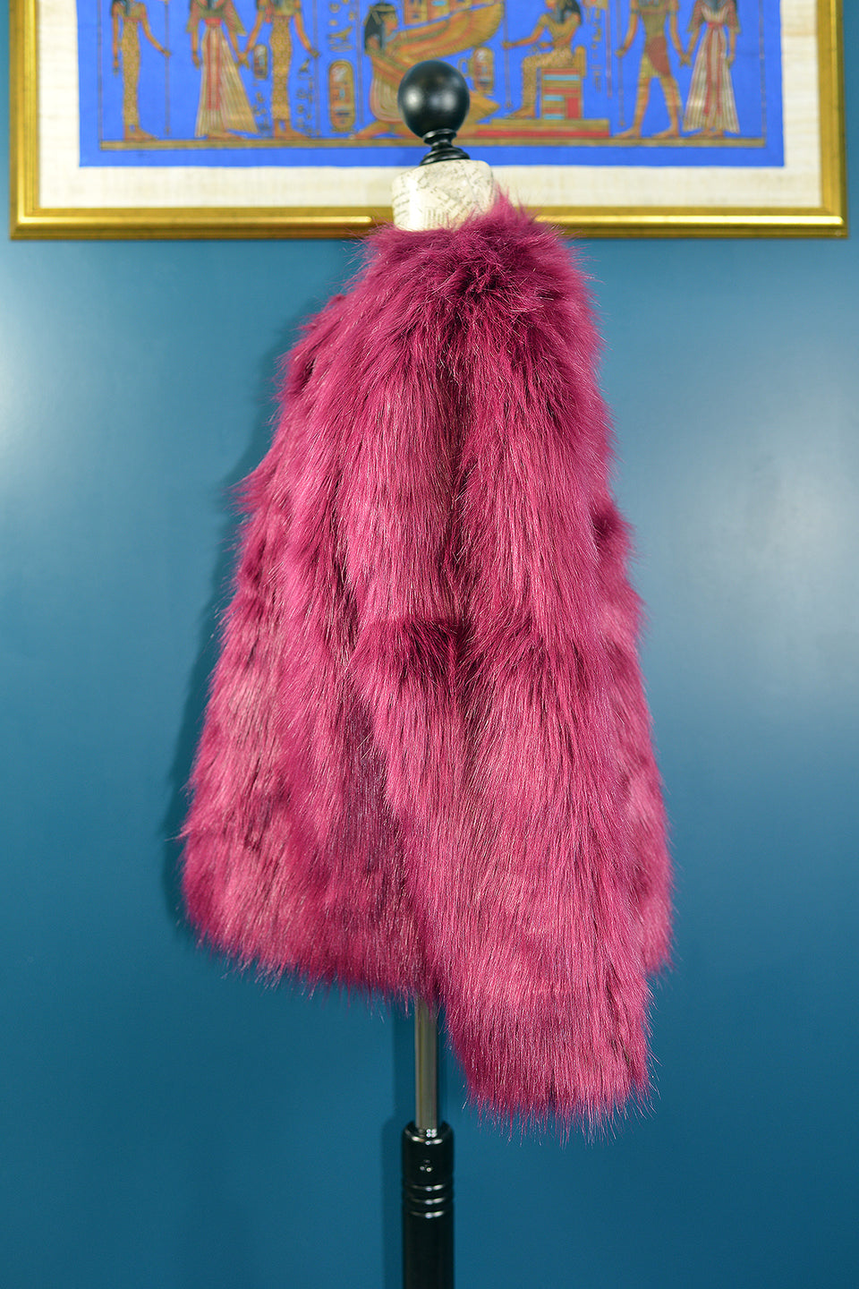 TED BAKER Girls Pink Magenta Faux Fur Jacket, Size 11 Years. Pre-loved.