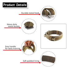 Load image into Gallery viewer, Dog Collar Nylon Adjustable Military Tactical