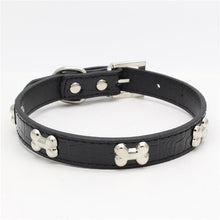 Load image into Gallery viewer, Dog Collar For Small Medium Dog Alligator PU Leather
