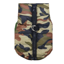 Load image into Gallery viewer, Waterproof Dog Coat Camo Pattern