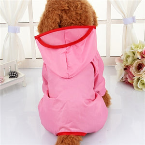 Hooded  Raincoats Waterproof Clothes For Small Dogs