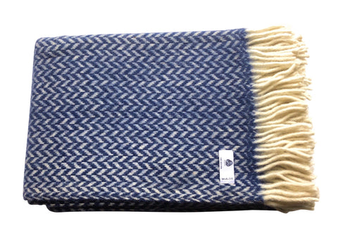 Pure Wool Blanket - Dazzling Blue