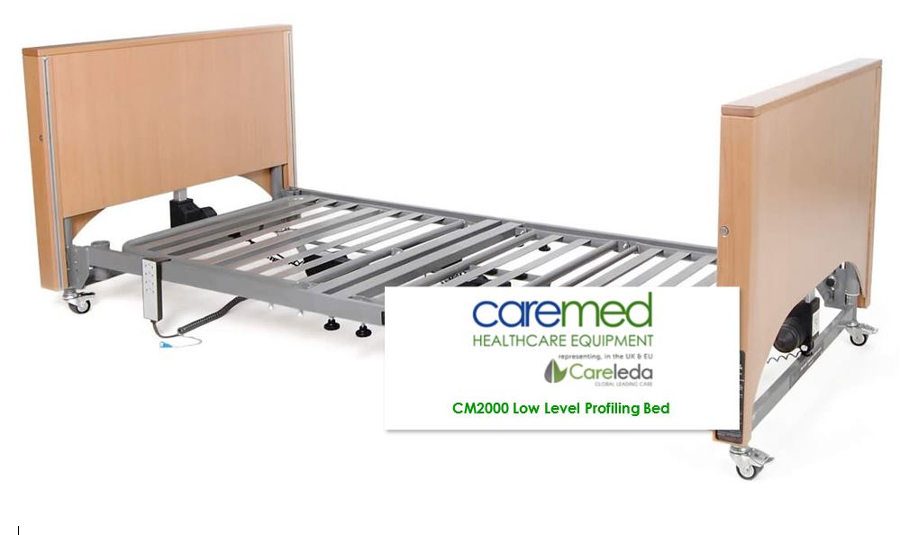 Caremed Nursing Care Beds - CM2000 Extra Low Nursing Care Bed