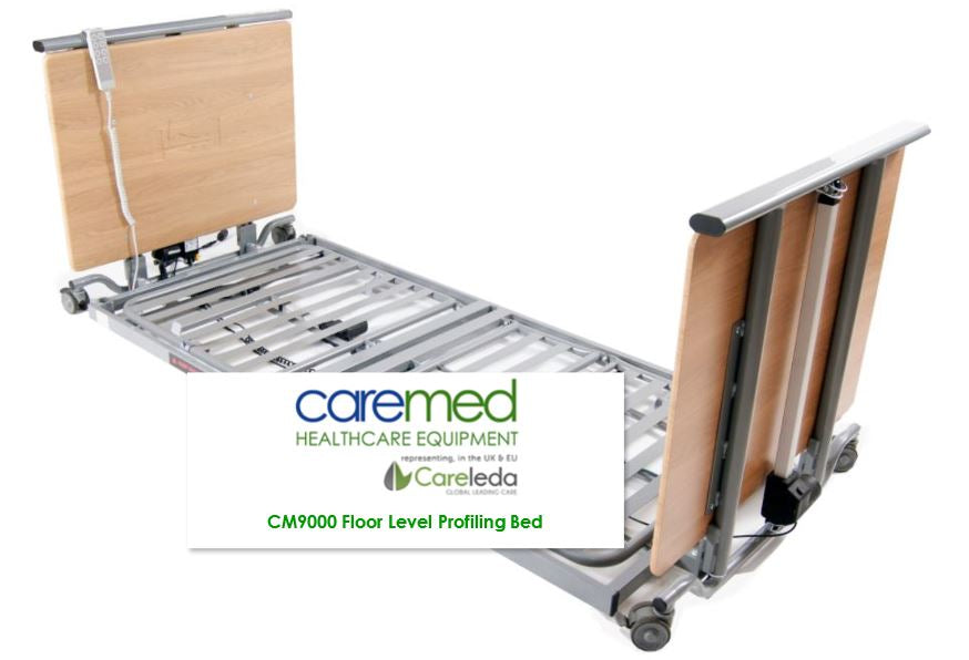 Caremed Nursing Care Beds - CM9000 Floor Level Nursing Care Bed