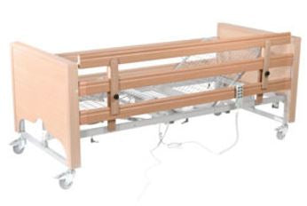 Caremed Care Beds - Extended Height Rails to Avoid Entrapment Risk