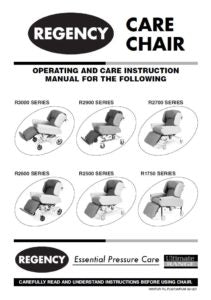 Caremed - Carer Chairs Operating Manual