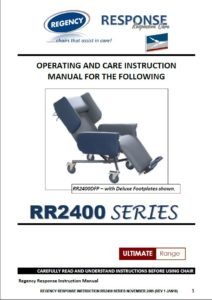 Caremed - Response Carer Chairs Operating Manual