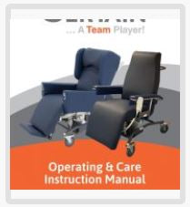Caremed - Sertain Chairs Operating Manual