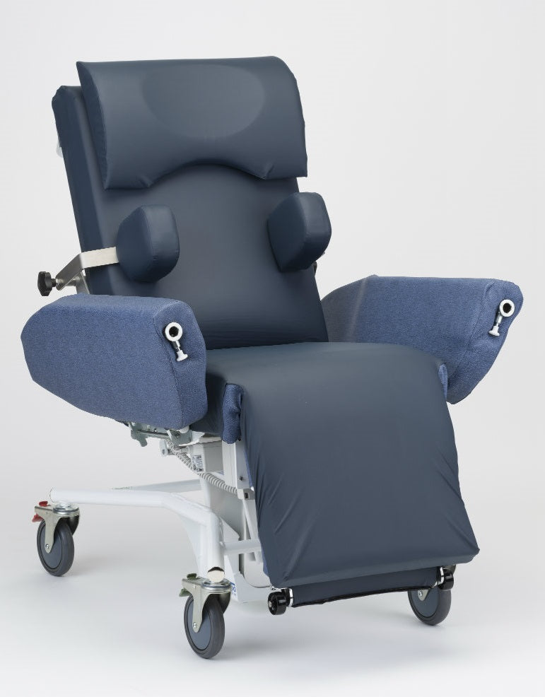 Sertain™ S4401NEURO – NeuroIntensive Care and Trauma Chair, 160kg SWL, electric hi-lo, lay flat for pat-slide transfers – additional support pack including laterals