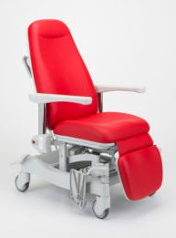 TX25E – height adjustable High Dependency chair, 300mm hi-lo, near-layflat