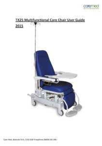 Caremed - TX24 Care/Hospital Chairs Operating Manual