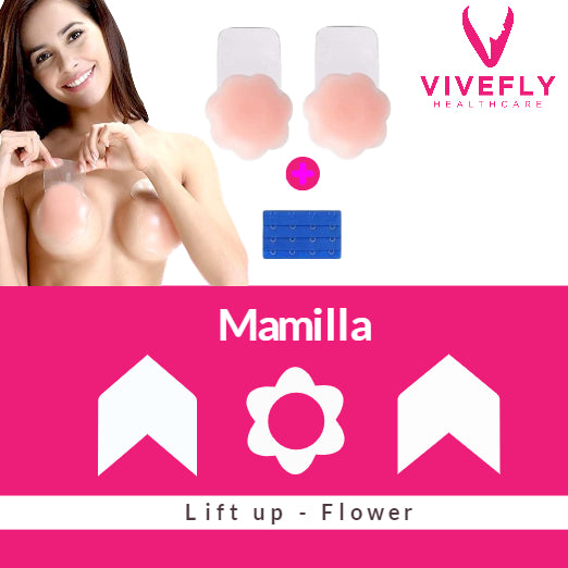 Zelfklevende Herbruikbare Tepelhoedje Push up Flower Double Pack - Vivefly Healthcare