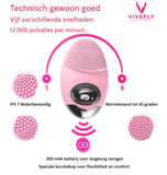 Vivefly Healthcare Mini gezichtsborstel Roze Mee-eters Puisjes Rosa - Vivefly Healthcare