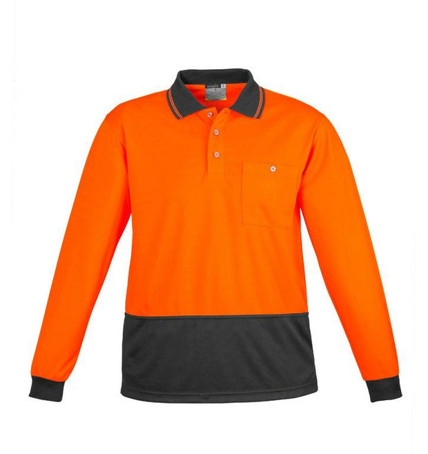 Syzmik-ZH232-Unisex L/S HiVis Basic Spliced Polo