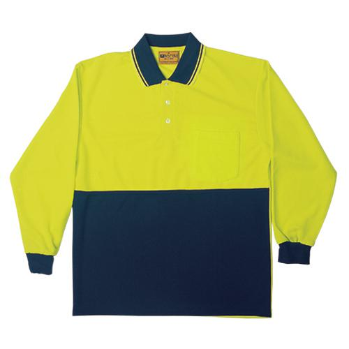 Bocini-SP0536-Hi Vis Polyface/Cotton Polo